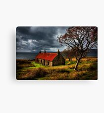 Ruin at Suisinish, Isle of Skye. North West Scotland. Canvas Print