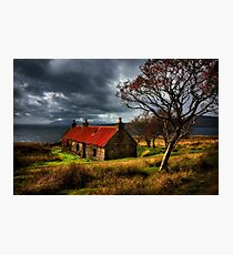 Ruin at Suisinish, Isle of Skye. North West Scotland. Photographic Print