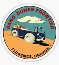 Sand Dunes Frontier Florence Oregon Vintage Travel Decal Sticker