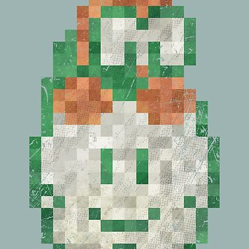 Lakitu Cloud Vintage Pixels  by Lidra