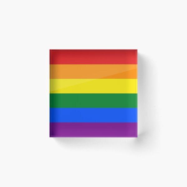 Rainbow Flag Gifts & Products Acrylic Block