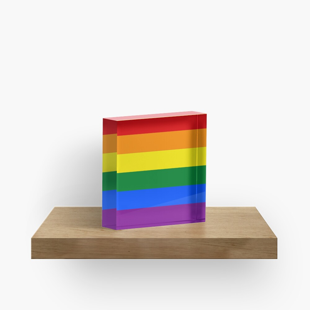Rainbow Flag Gifts & Products Acrylic Block
