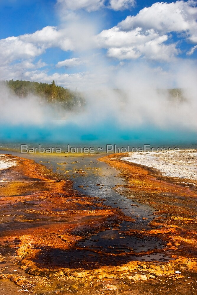 Biscuit Basin. Sapphire Pool. Yellowstone National Park. Wyoming. USA. by Barbara  Jones ~ PhotosEcosse