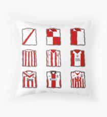 Southampton FC kits through the years Throw Pillow