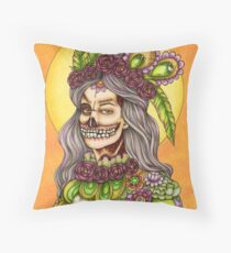 Halloween Color your Fright promo Yellow Zombie Throw Pillow