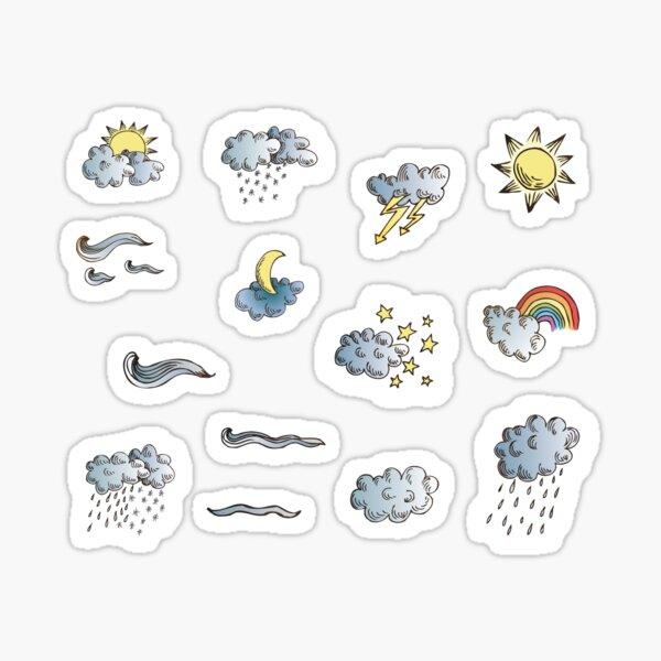 weather symbols Sticker