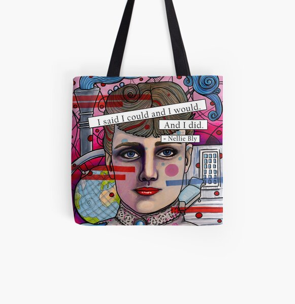 Nellie Bly All Over Print Tote Bag
