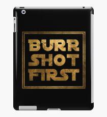 Burr Shot First - Gold iPad Case/Skin