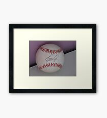 signed ball Framed Print