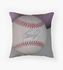 signed ball Throw Pillow
