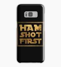 Ham Shot First - Gold Samsung Galaxy Case/Skin