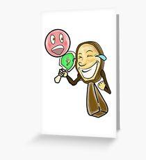 Funny Face Ping Pong Racket Greeting Card