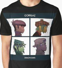 GORILLAZ DEMON DAYS ALBUM ARTWORK (Jamie Hewlett) Graphic T-Shirt