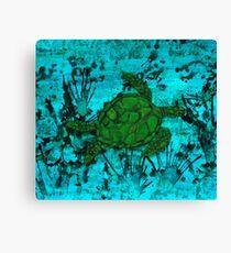 Sea Turtle acrylic & ink print 92917 Canvas Print