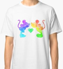 Rainbow characters silhouettes Classic T-Shirt
