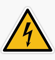 W012 High voltage Sticker