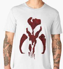 Boba Fett Symbol Mandalorian Mythosaur Skull Men's Premium T-Shirt
