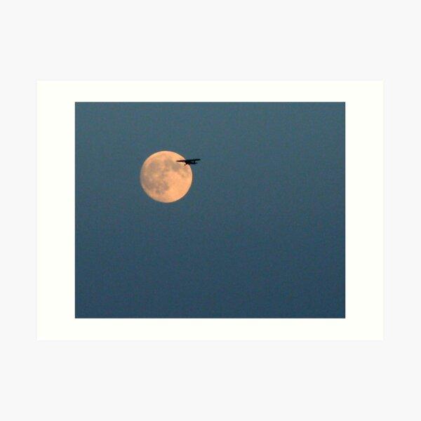 Twilight Flight By The Moon Art Print