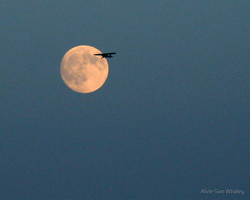 Twilight Flight By The Moon by Alvin-San Whaley