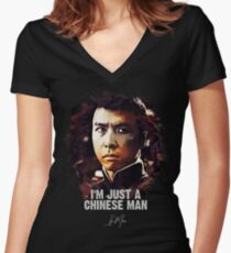I`m Just A Chinese Man - IP MAN Women's Fitted V-Neck T-Shirt