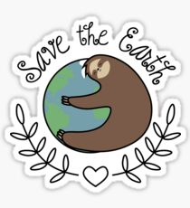 Save The Earth Sloth Sticker