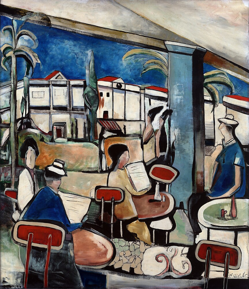Whispers and Admiration at the Cafe` by Michele Righetti