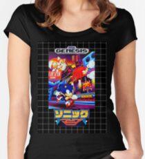 Sonic Mania Game Sega Genesis Japanese Women's Fitted Scoop T-Shirt