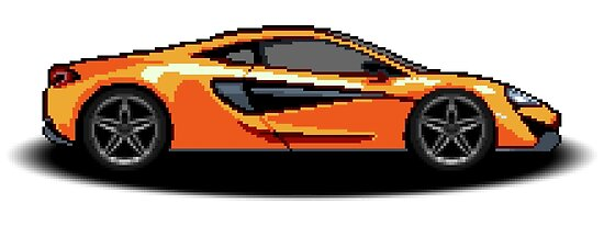 Mclaren 570s Pixel Car Poster By Timsurbo Redbubble