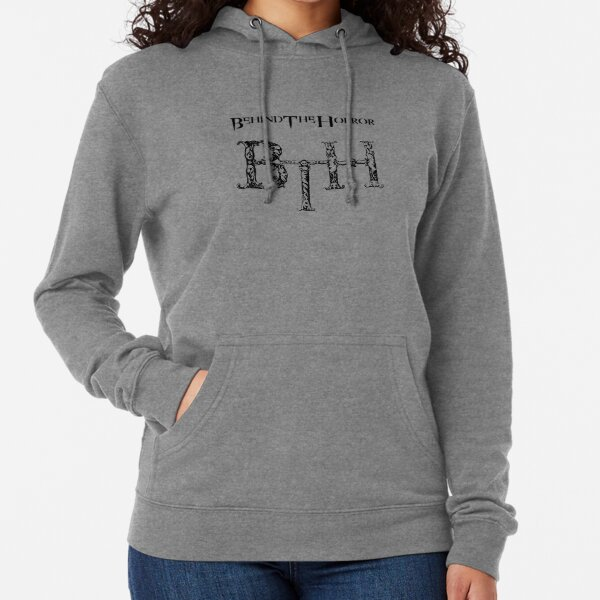 Behind The Horror - Classic Withe Lightweight Hoodie