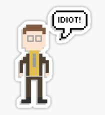 the office merchandise. interesting the dwight schrute idiot quote  the office us 8bit merchandise sticker throughout