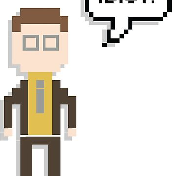 Dwight Schrute Idiot Quote | The Office U.S 8-Bit Merchandise by tellytee