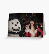 Elvira Christmas  Greeting Card