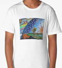 Flammarion Woodcut Flat Earth Design Long T-Shirt