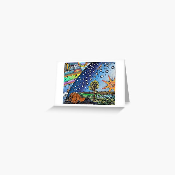 Flammarion Woodcut Flat Earth Design Greeting Card