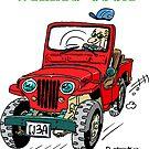 Jeep Willys CJ3A rojo (1) by RFlores