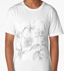 Seamless pattern with Peony flowers Long T-Shirt