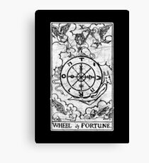 Wheel of Fortune Tarot Card - Major Arcana - fortune telling - occult Canvas Print