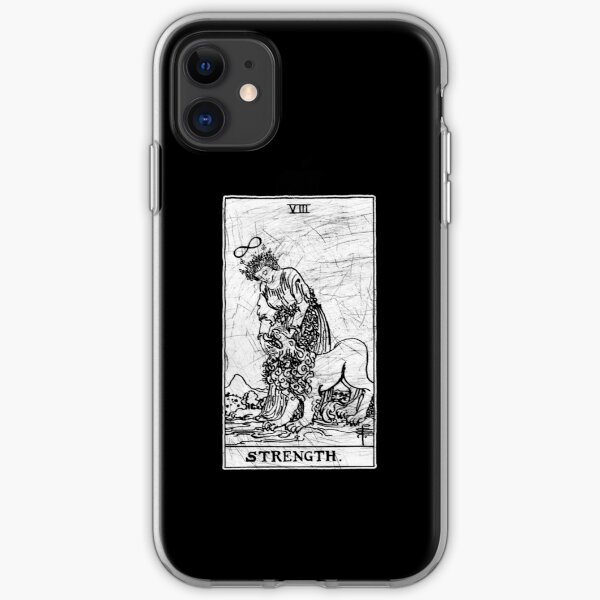 Strength Tarot Card - Major Arcana - fortune telling - occult iPhone Soft Case