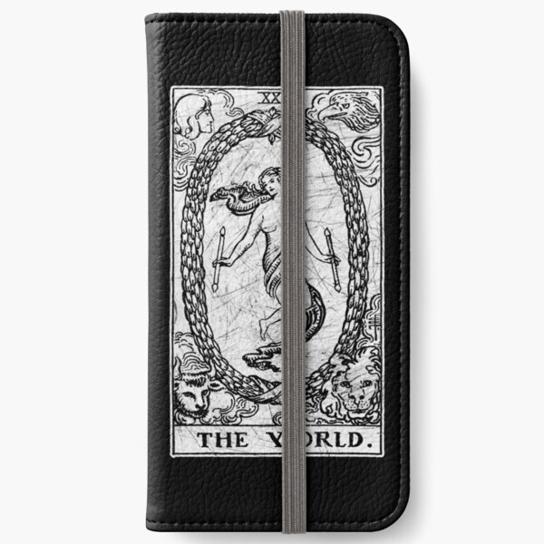 The World Tarot Card - Major Arcana - fortune telling - occult iPhone Wallet