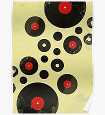 Vintage Vinyl Records Music DJ inspired design Poster