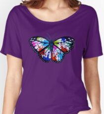 Splatterfly Paint Butterfly  Women's Relaxed Fit T-Shirt