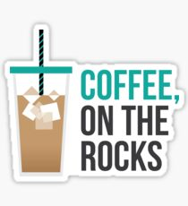 Iced Coffee on the Rocks Sticker