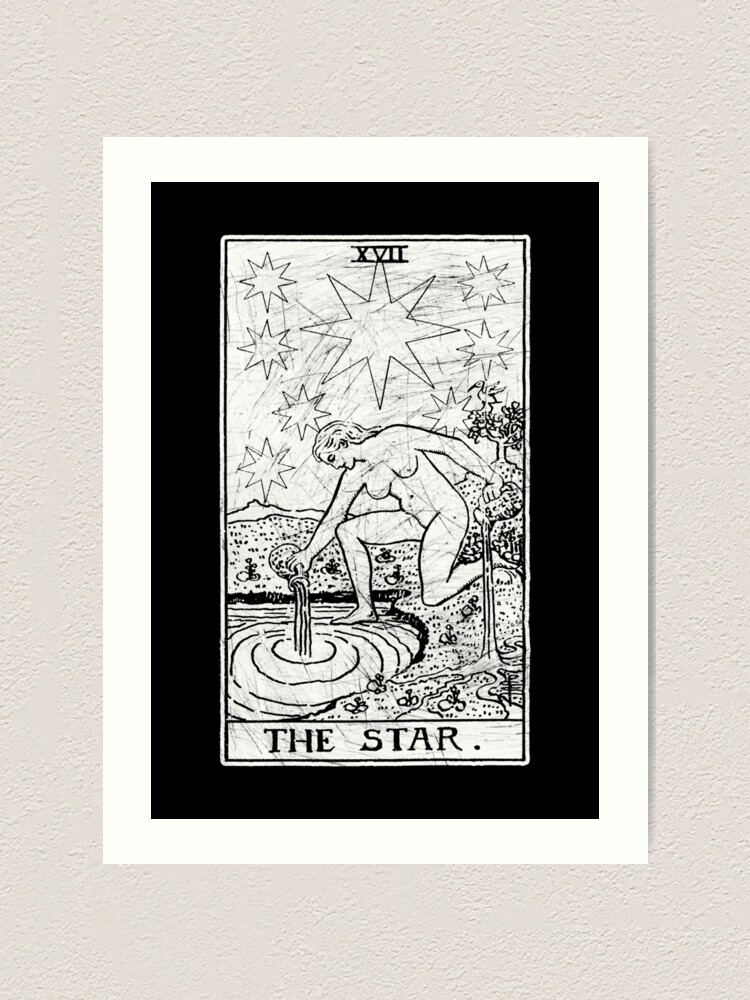 Alternate view of The Star Tarot Card - Major Arcana - fortune telling - occult Art Print
