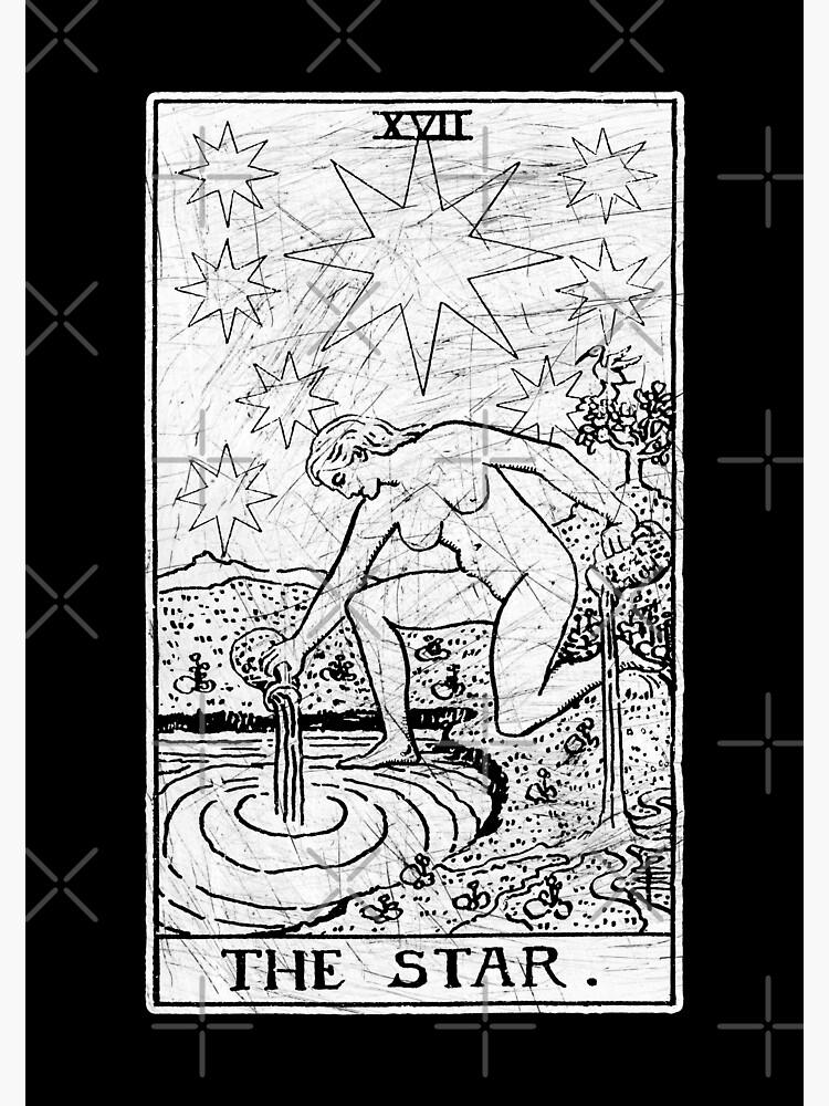 The Star Tarot Card - Major Arcana - fortune telling - occult by createdezign