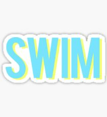 Schwimme blau und gelb Sticker