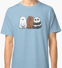We Bare Bears Cartoon - Baby Bear Cubs - Grizz, Panda, Ice Bear Classic T-Shirt