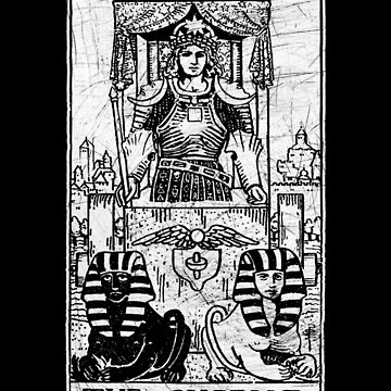 La carta del Tarot de carro - Arcana mayor - adivinación - oculta de createdezign
