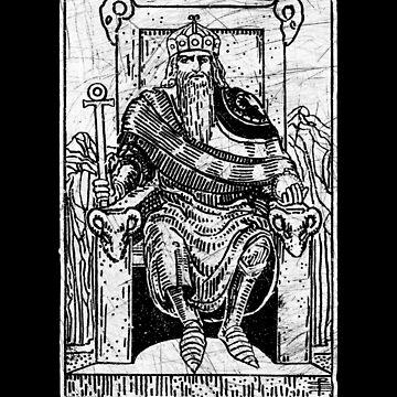 El Emperador Tarot Card - Major Arcana - adivinación - ocultismo de createdezign