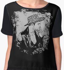 Cowboy Smoking Hat - Cool Grunge Vintage Chiffon Top