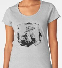 Cowboy Smoking Hat - Cool Grunge Vintage Women's Premium T-Shirt